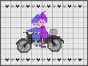 Cross Stitch Pattern Chart on Printable PDF Indian Motorcycle
